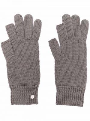 Brązowe rękawiczki wełniane Rick Owens