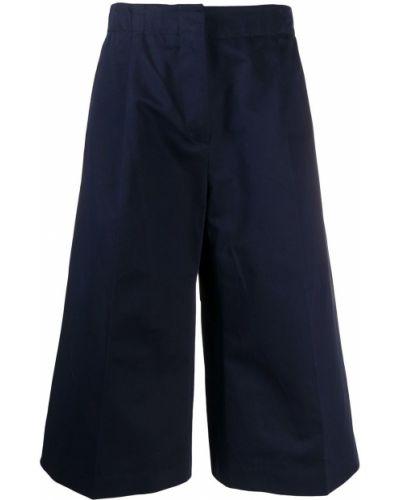 Bawełna bawełna niebieski rozbłysnął spodnie culotte Marni