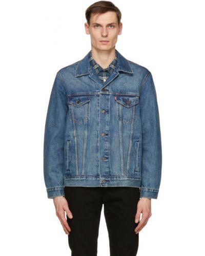 Синяя джинсовая куртка с воротником винтажная Levi's®