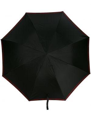 Czarny parasol na co dzień Alexander Mcqueen