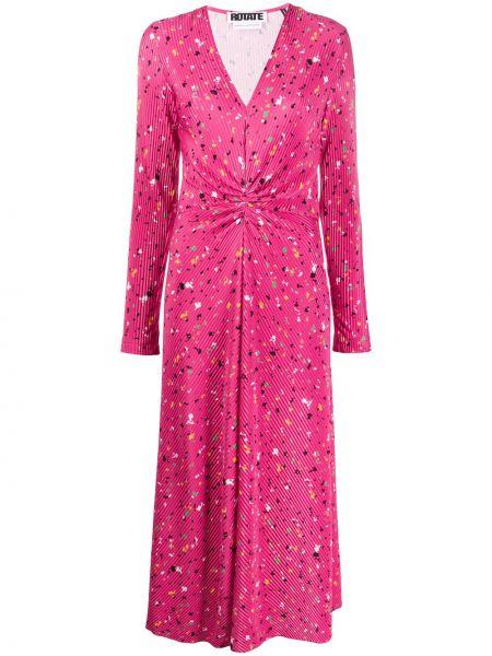 Платье миди розовое макси Rotate