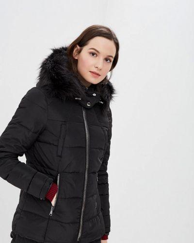 Зимняя куртка утепленная черная Piazza Italia