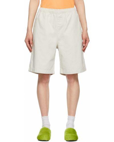 Пляжные шорты - белые Stussy