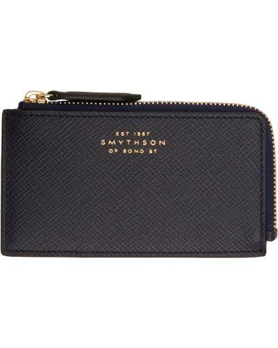 Czarny złoty portfel Smythson