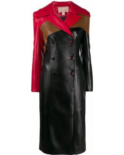 Черное пальто с капюшоном Matériel