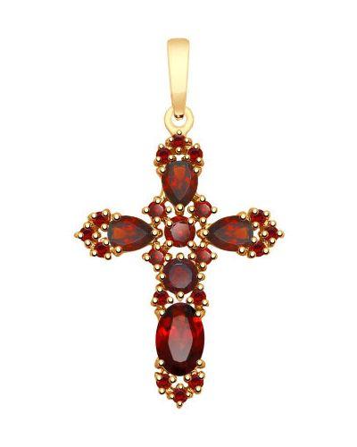 Золотистый крест золотой Sokolov