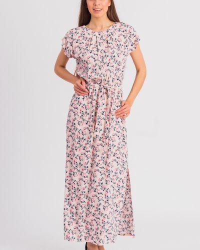 Платье с поясом розовое персиковое Lacywear