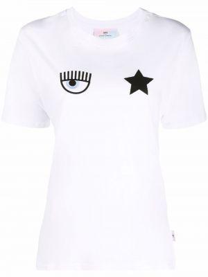 Белая футболка короткая Chiara Ferragni