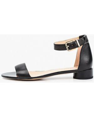 Кожаные черные сандалии Pazolini