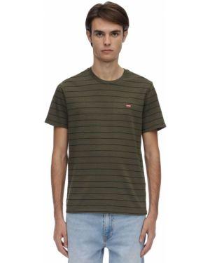 Zielony t-shirt bawełniany Levi's Red Tab