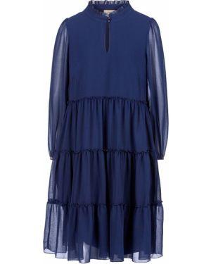 Платье миди синее расклешенное Vera Moni