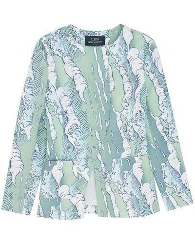 Хлопковый зеленый пиджак в морском стиле Alena Akhmadullina