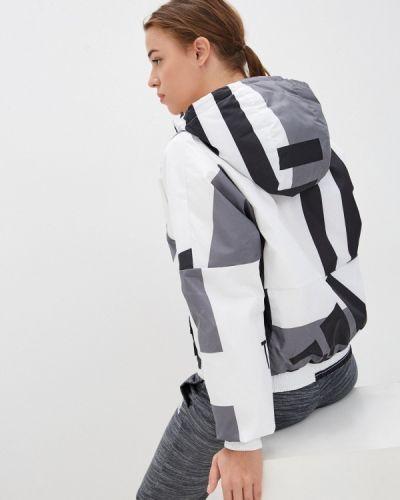 Утепленная белая куртка Adidas