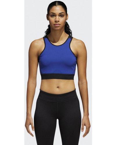Синий спортивный топ Adidas