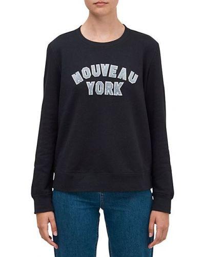 Ватный хлопковый черный свитшот Kate Spade New York