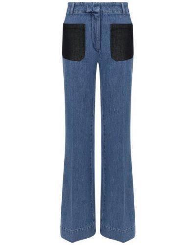 Хлопковые синие джинсы Victoria Beckham