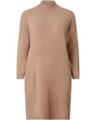 Sukienka rozkloszowana z długimi rękawami - brązowa Only Carmakoma