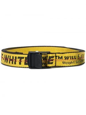 Ремень желтый белый Off-white