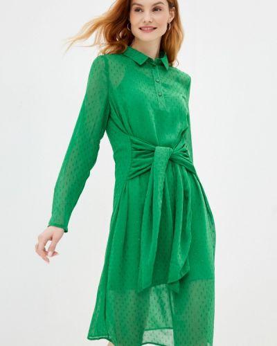 Зеленое платье-рубашка Ichi