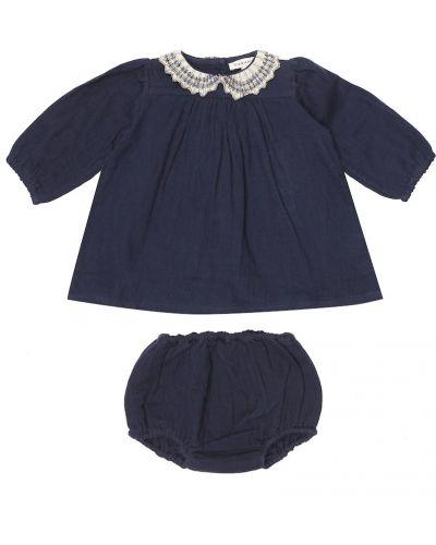 Ватная хлопковая синяя блузка Caramel