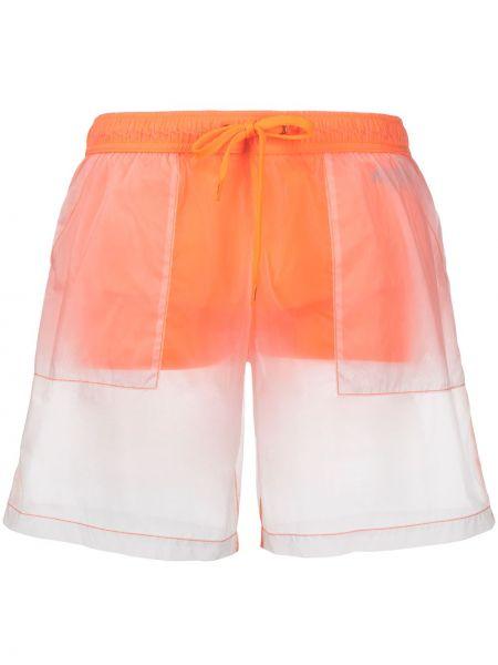 С кулиской оранжевые плавки-боксеры с карманами Moschino