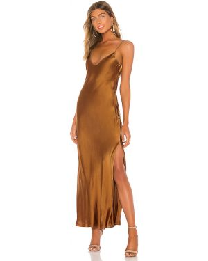 Brązowa satynowa sukienka Dannijo