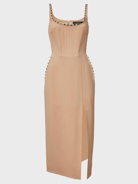 Шерстяное платье - бежевое David Koma