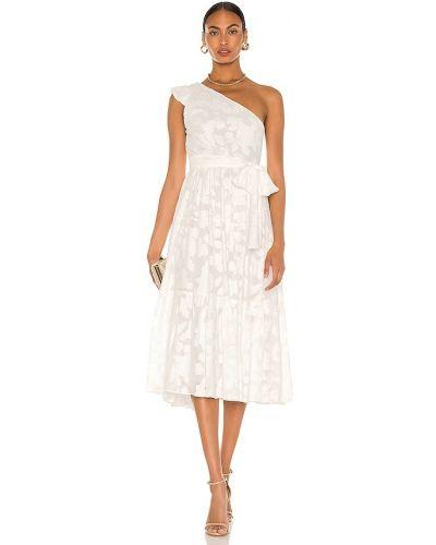 Шифоновое белое платье с подкладкой Karina Grimaldi