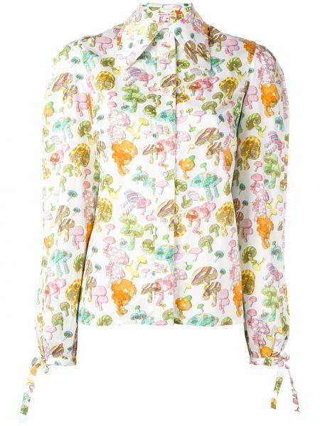 Рубашка белая с принтом Olympia Le Tan
