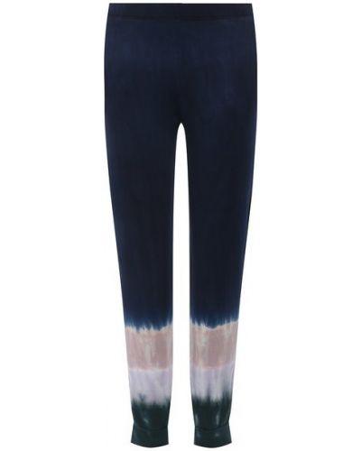 Хлопковые синие брюки Monrow