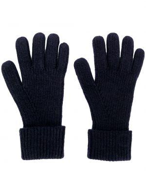 Prążkowane z kaszmiru niebieskie rękawiczki N.peal