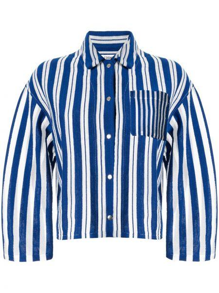 Рубашка с длинным рукавом в полоску с карманами Coohem