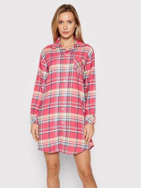 Piżama - różowa Lauren Ralph Lauren