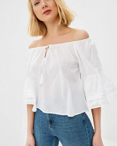Блузка с рюшами белая Fresh Cotton