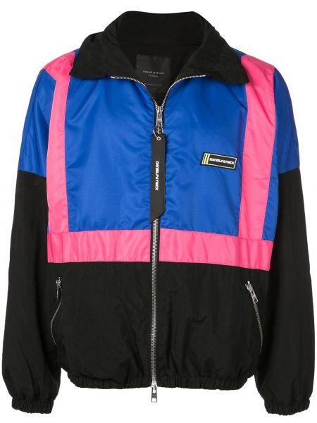Prążkowana różowa kurtka Daniel Patrick