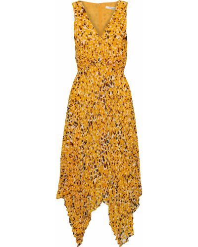 Плиссированное платье миди с подкладкой из крепа Derek Lam 10 Crosby