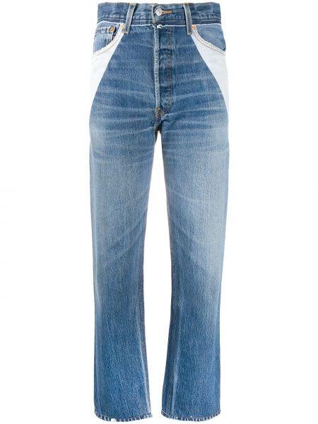 Prosto bawełna niebieski jeansy o prostym kroju z kieszeniami Re/done