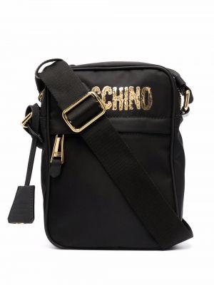 Черная сумка на молнии Moschino