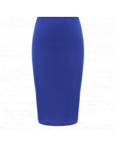 Шерстяная юбка - синяя St. John