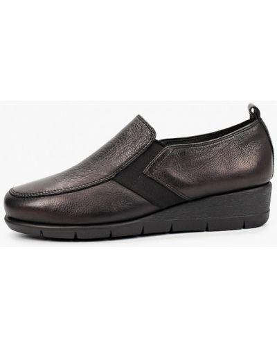 Черные кожаные туфли закрытые Thomas Munz