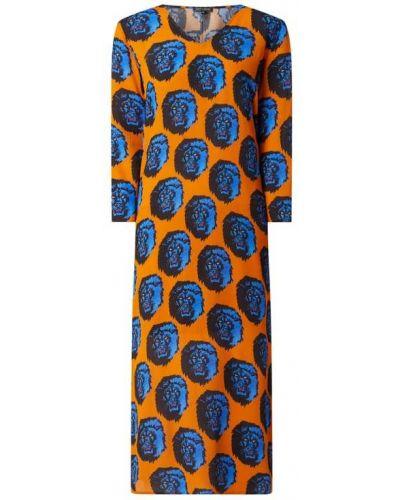 Pomarańczowa sukienka rozkloszowana z wiskozy Risy & Jerfs