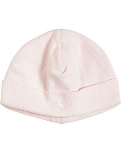 Bawełna bawełna różowy kapelusz z haftem Ralph Lauren