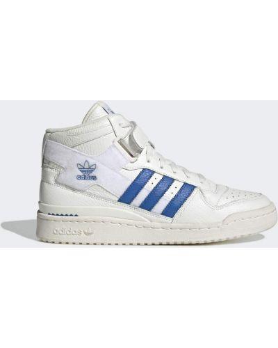 Баскетбольные высокие кроссовки - белые Adidas