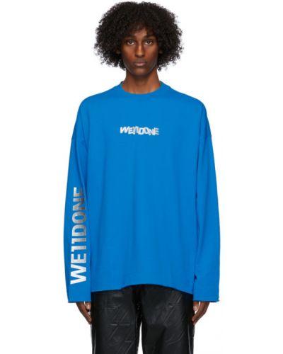 Черная футболка с длинными рукавами с воротником We11done
