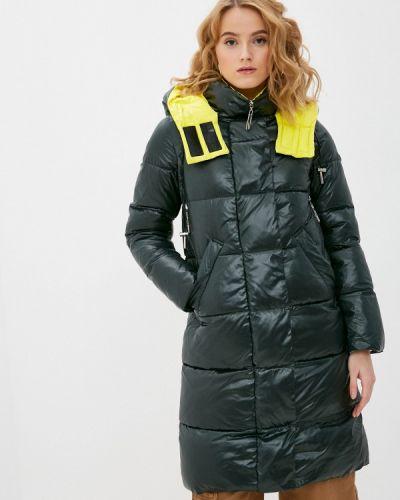 Зеленая утепленная куртка Purelife