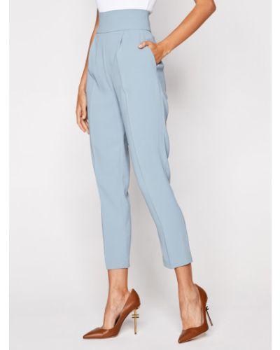 Niebieskie spodnie materiałowe Pinko