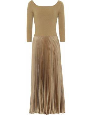 Платье миди со складками плиссированное Polo Ralph Lauren