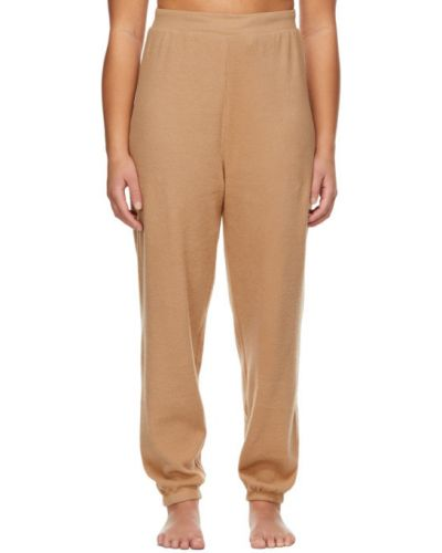 Ватные хлопковые брюки стрейч Skims