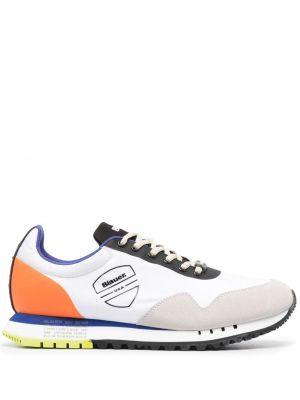 Кожаные белые кроссовки на шнурках Blauer