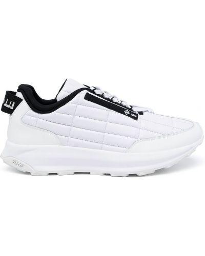 Białe sneakersy skorzane Dunhill